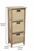 Picture of HONY CABINET WITH 2/3 PAPER ROPE BASKETS