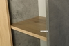 Picture of MORENA 1 DOOR BOOKCASE WITH 12 SHELVES *CEMENT AND NATURAL OAK