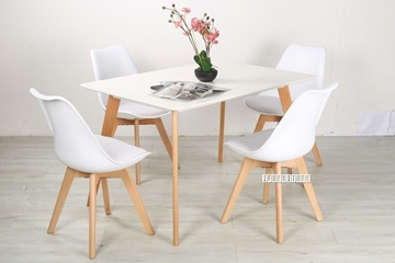 Picture of SKIVE  1.2/1.6M 5PC DINING SET *WHITE