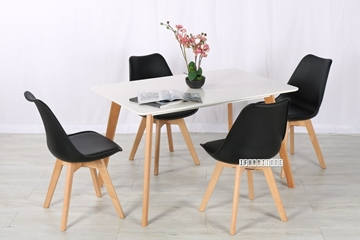 Picture of SKIVE  1.2/1.6M 5PC DINING SET *BLACK