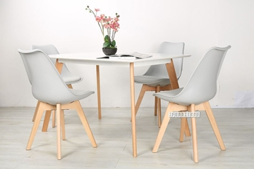 Picture of SKIVE  1.2/1.6M 5PC DINING SET *GRAY